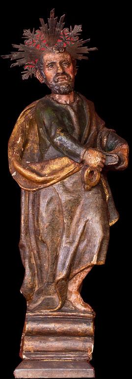 c85e3d3781c Imagen de la Virgen en madera con Corona de plata. Escuela Quiteña. Siglo  XVIII. 55 cms. de alto. (Lote 60). San Pedro.